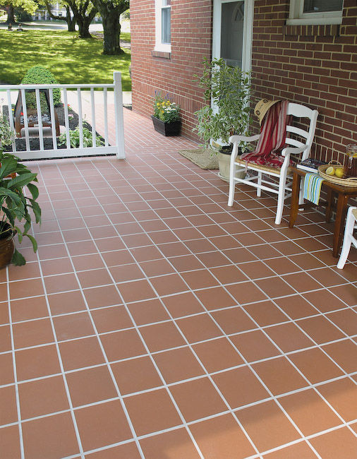 Outdoor Tile Patio   QuarryBasics®   6x6   #310 Mayflower Red